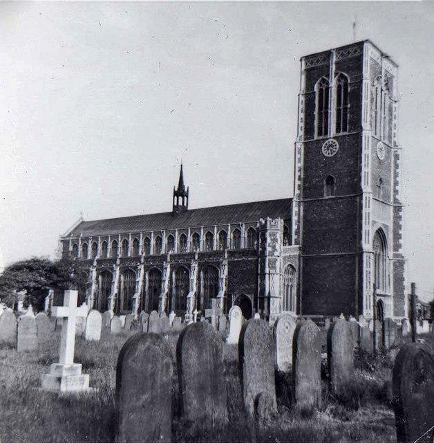 St Edmund Parish Church and graveyard, Southwold, Suffolk, taken 1962