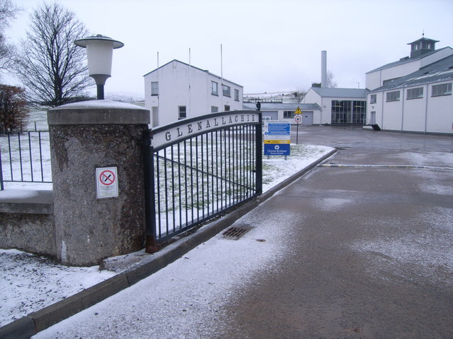 Glenallachie Distillery - entrance gate