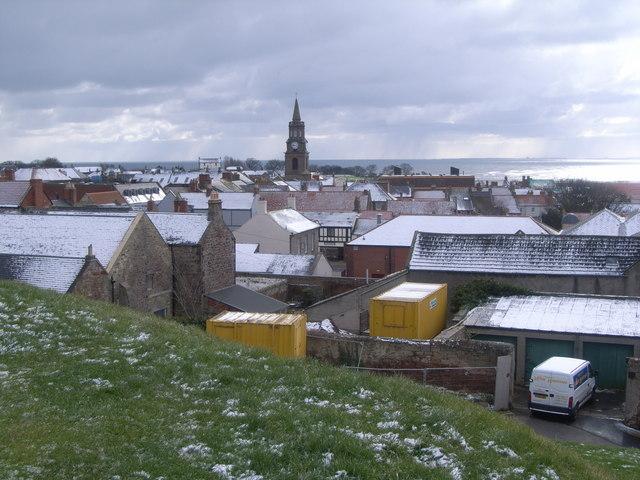 View across Berwick upon Tweed