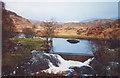 NM7147 : Weir on River Rannoch near hydro intake by Peter Bond