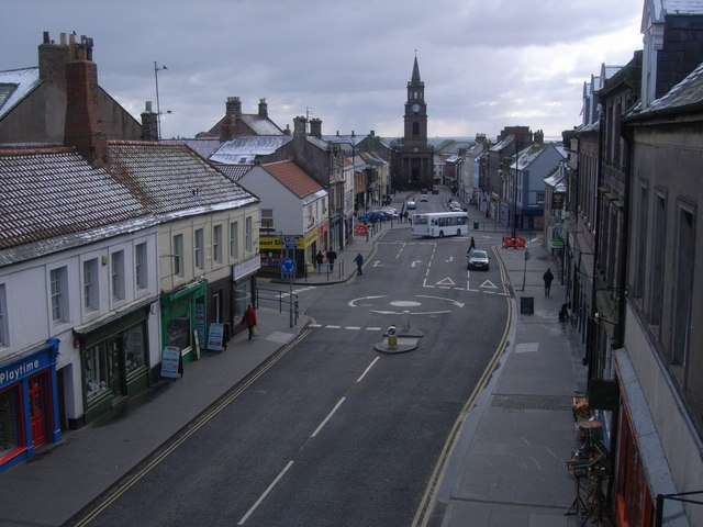 Looking from walls to town centre