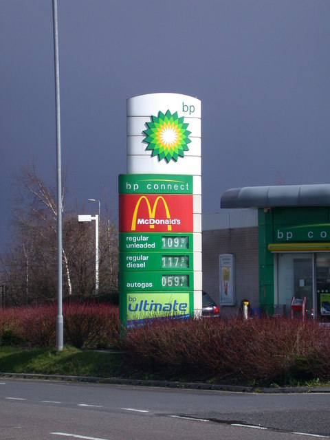 BP Connect price sign