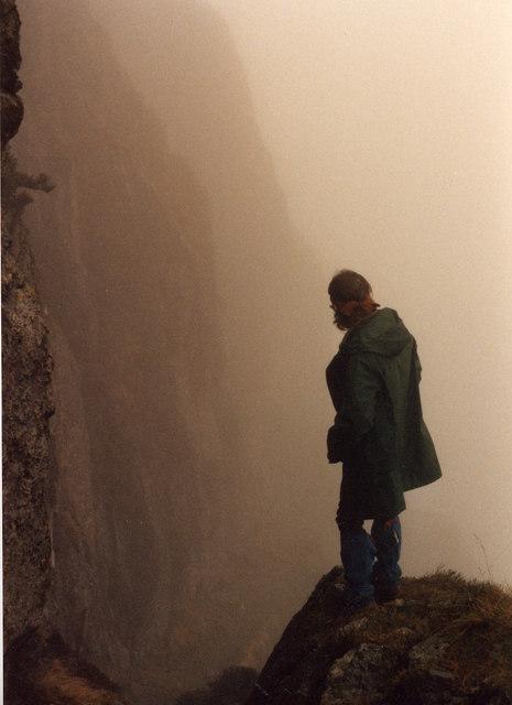 Jack's Rake in mist, Pavey Ark