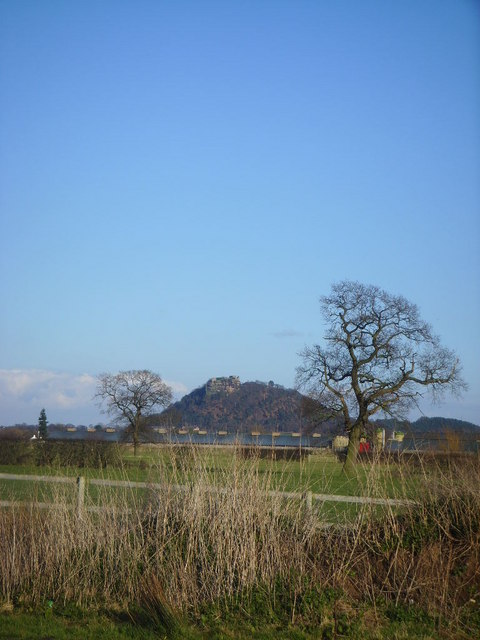 View  across the fields of Beeston Castle  from Cheshire Farm