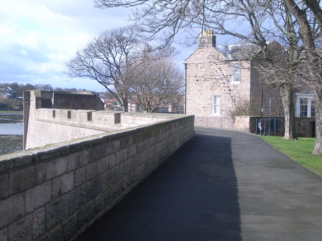 Looking towards Coxons Tower, city walls