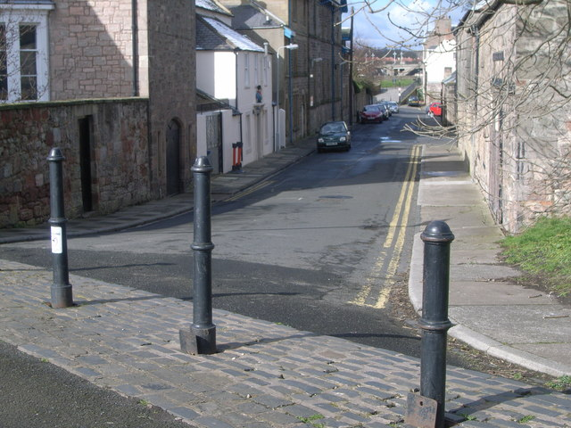 A load of bollards, city walls