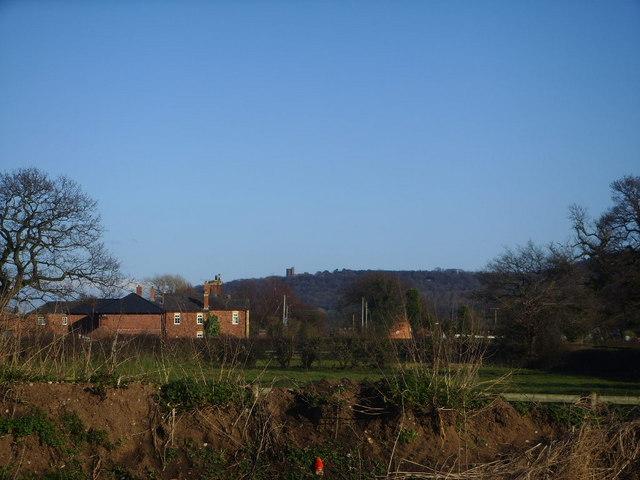 Peckforton Castle across the fields
