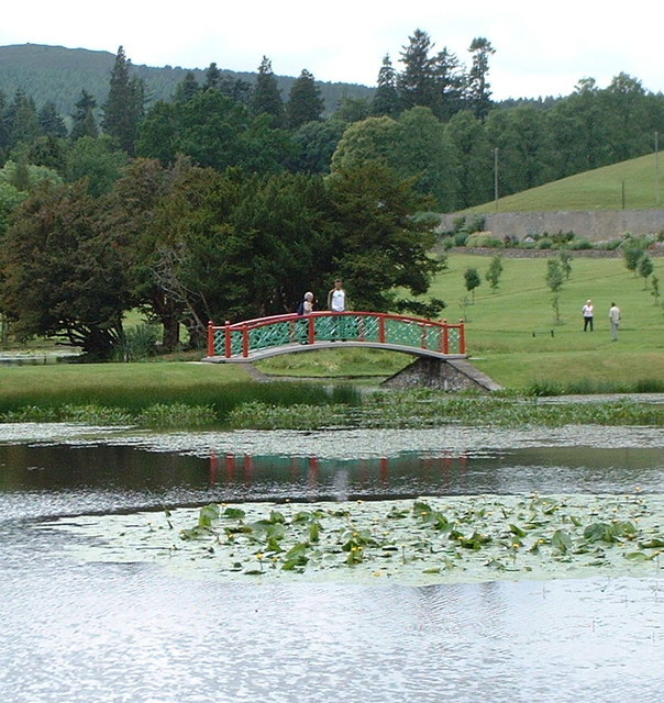 Chinese bridge in Hercules Garden
