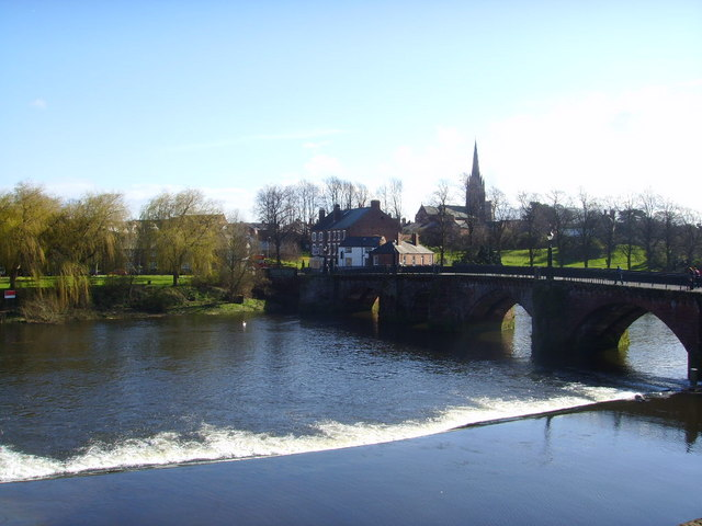 Old Dee Bridge and Weir