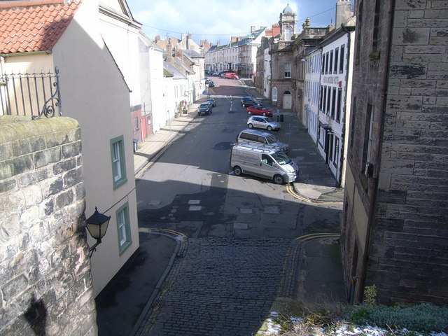 Looking up Hide Hill from the walls