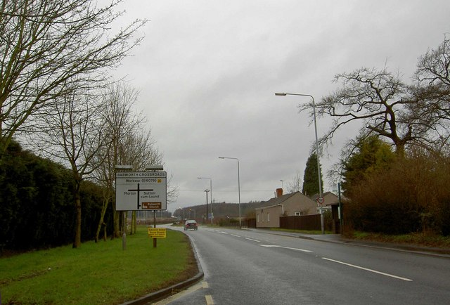 Babworth Crossroads on the A620