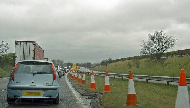A1 North traffic jam
