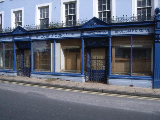 William Cowe & Sons Confectioners Shop