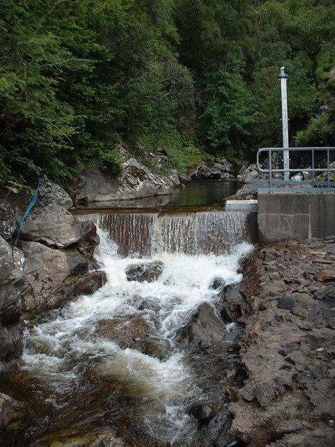 Water supply intake on Allt Girnaig