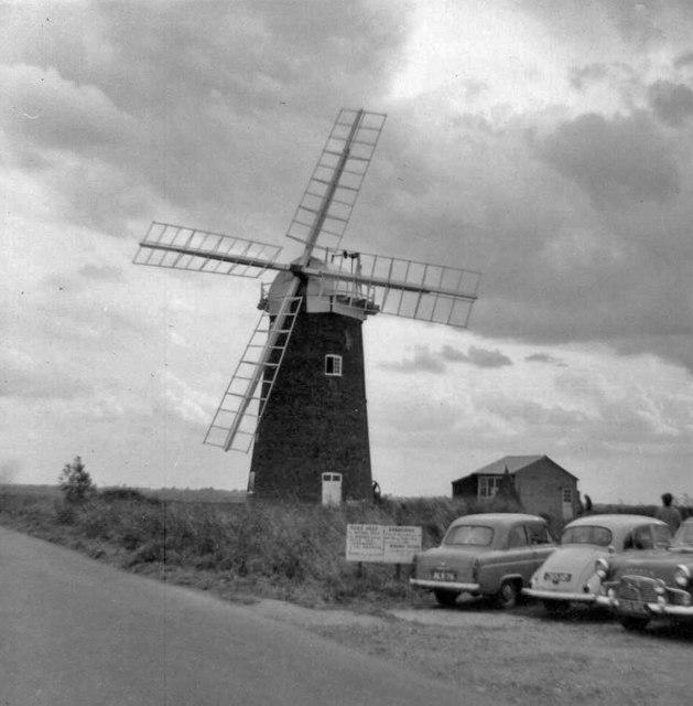 Horsey Windpump, Norfolk, taken 1961