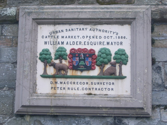 Cattle Market plaque in castlegate car park
