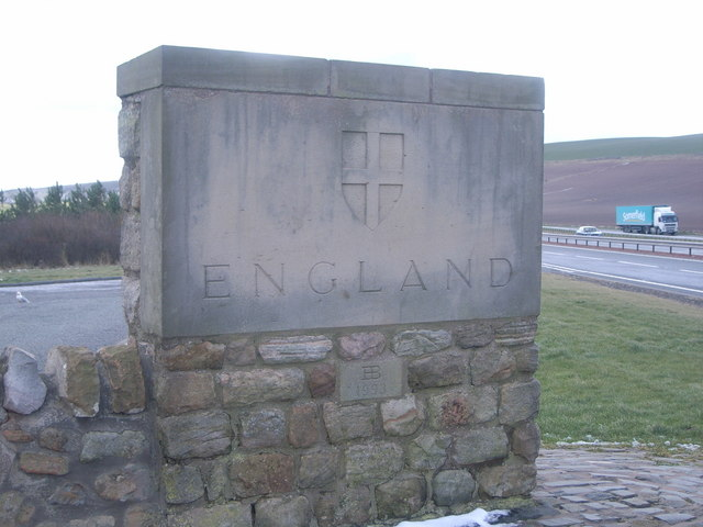 England/ Scotland border looking in to England
