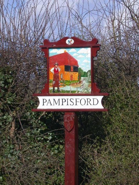 Pampisford (west end) Village Sign