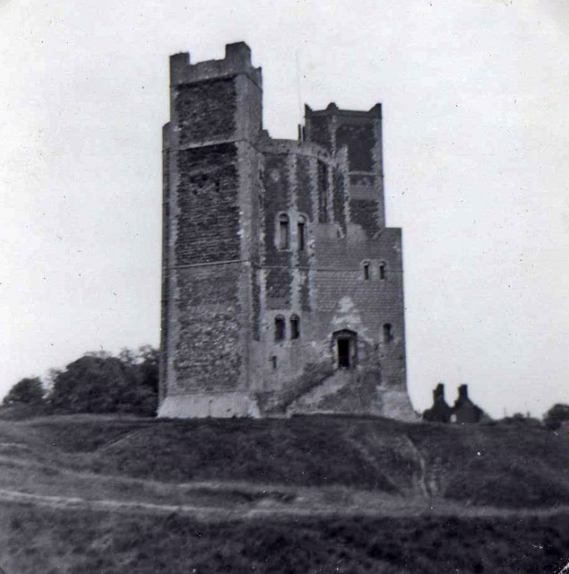 Orford Castle, Orford, Suffolk, taken 1962