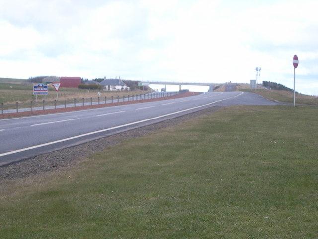 England/ Scotland border - first view of Scotland