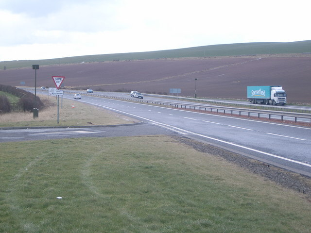 England/ Scotland border - first view of England