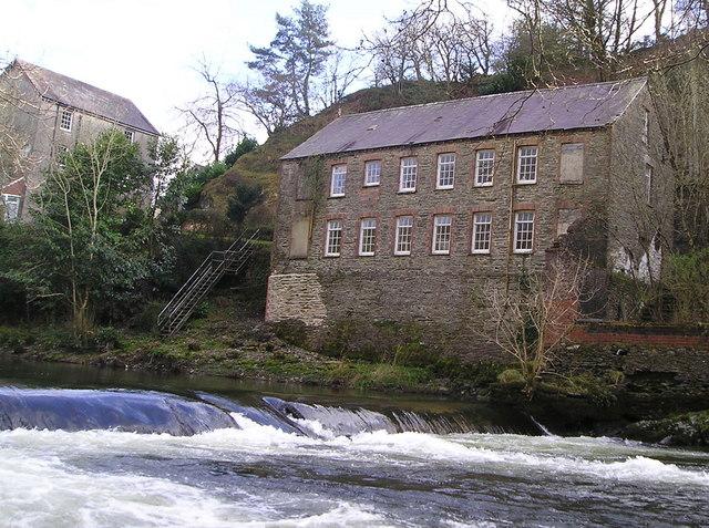 Allt-y-Cafan Mill and Weir