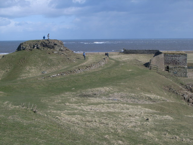 Looking out to sea from Lindisfarne Castle