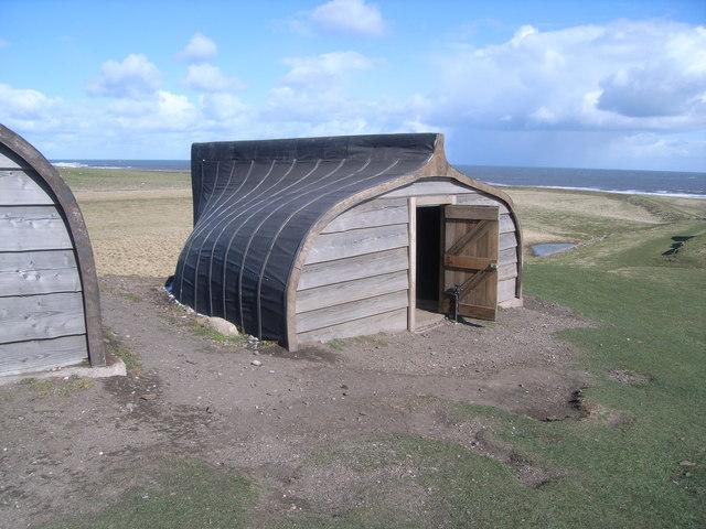 Lindisfarne Castle - information buildings