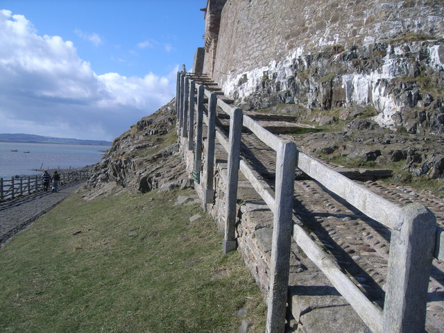 Lindisfarne Castle - steps up to castle
