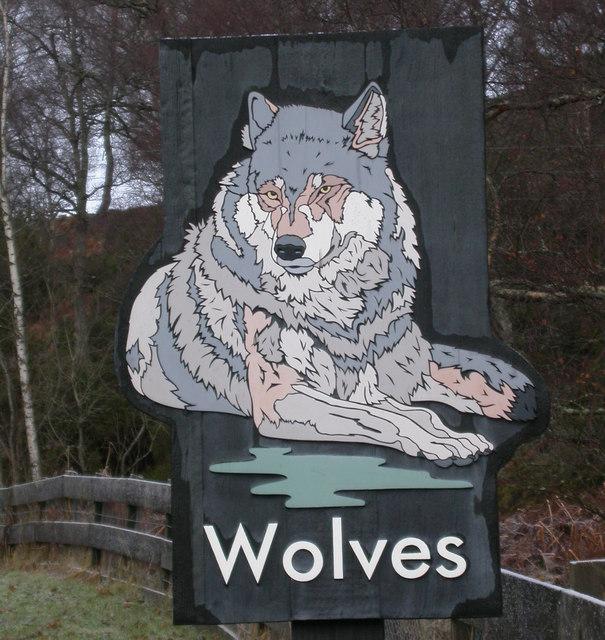 Sign on road near Highland Wildlife Park