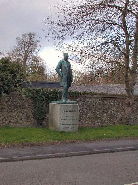 Jonas Webb statue