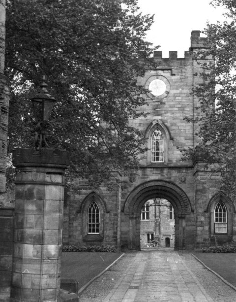 Entry to Castle  at Durham from Palace Green