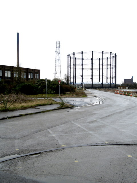 'Reckitt's' Chimney and Gas Holder in Stoneferry