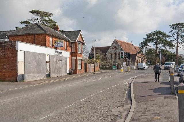 Defunct shop adjacent to All Saints' church, Denmead