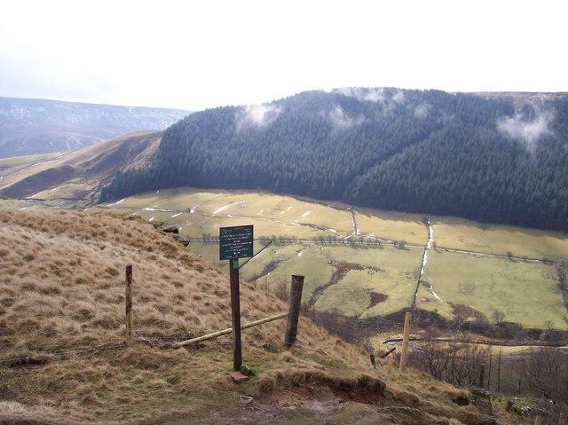 Waymarker,Alport Castles Path