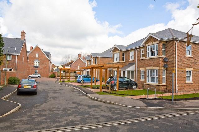 New housing on Ashling Gardens, Denmead