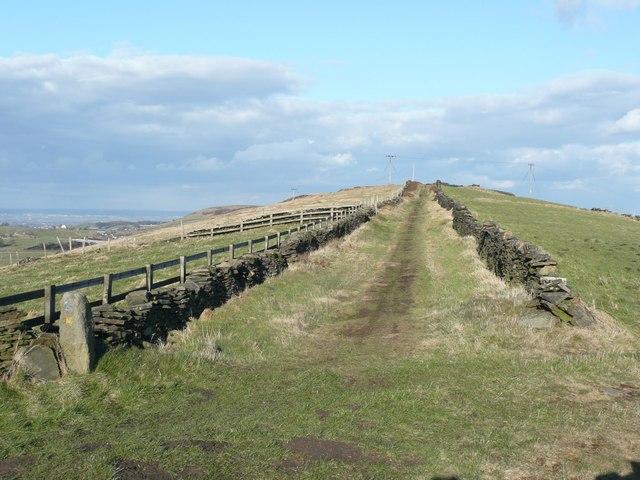 Lane on Worts Hill, Slaithwaite