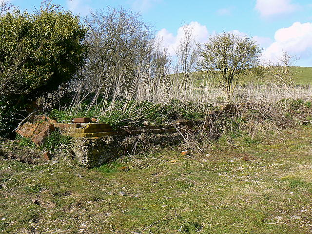 Rifle range remnants, near Liddington Hill