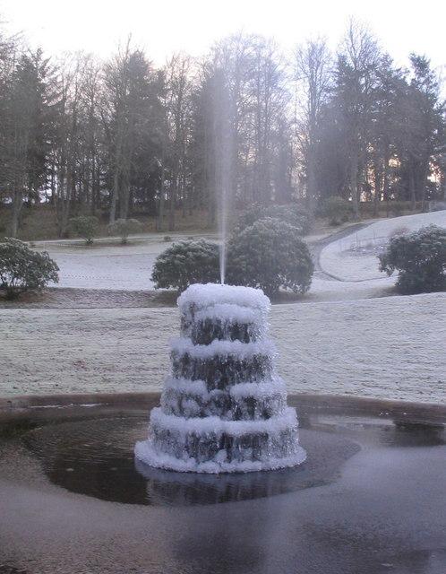 Fountain at Atholl Palace