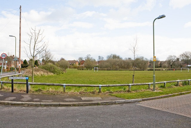 Playing field at Roman Green, Denmead