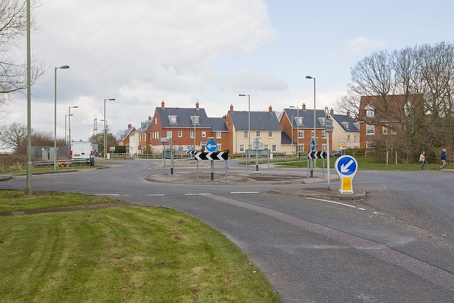 Roundabout at Bunkers Hill, Denmead