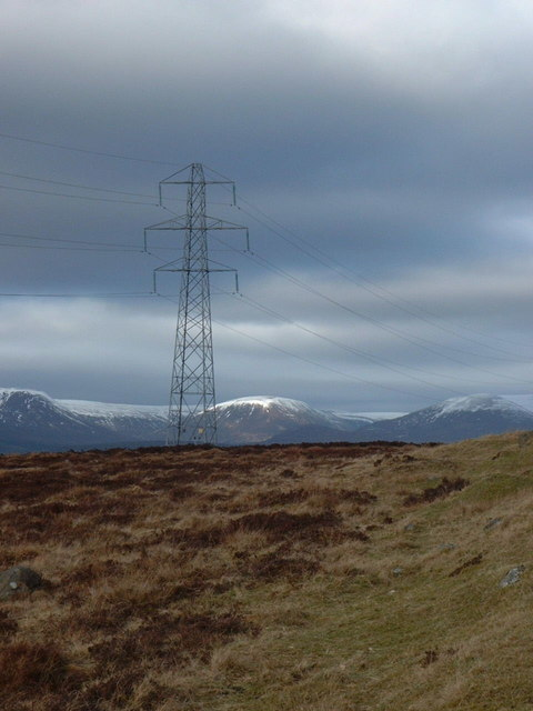 Pylon between Trinafour and Dalnacardoch