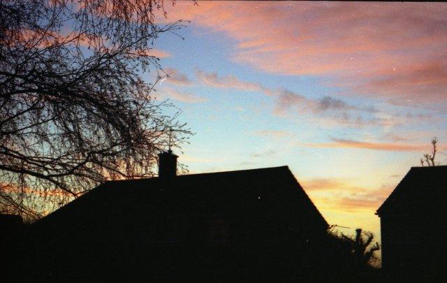 Sunset over Whitenap Estate