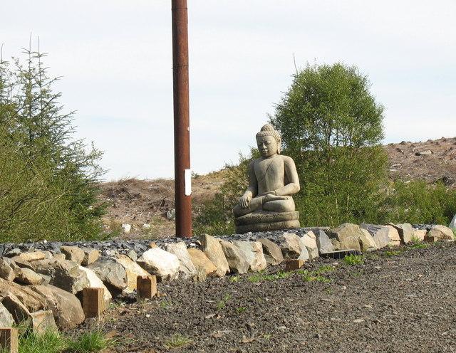 An effigy of Buddha in the monastery garden