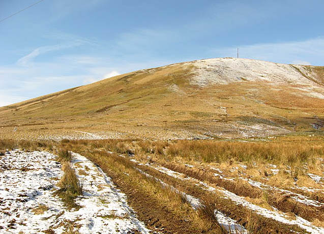 Hill farmland by the A7