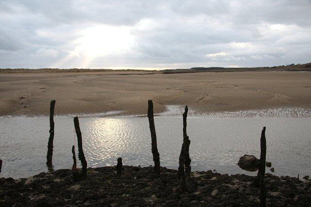 Mooring posts at Pembrey