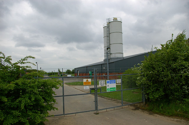 Entrance to Anglian Water Treatment Plant