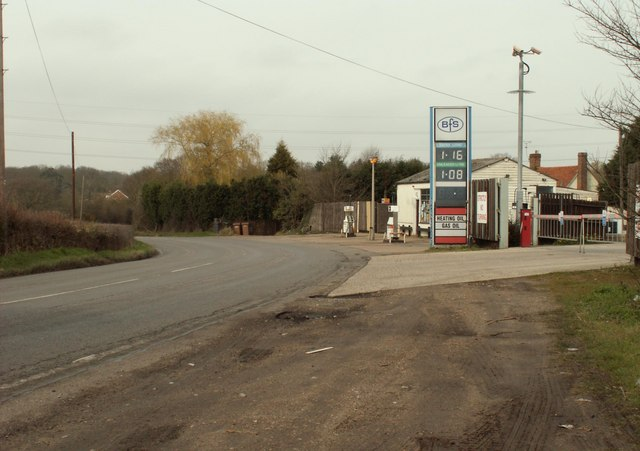 Petrol Station on the B1418 near Bicknacre
