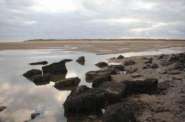 Harbour remains at Pembrey
