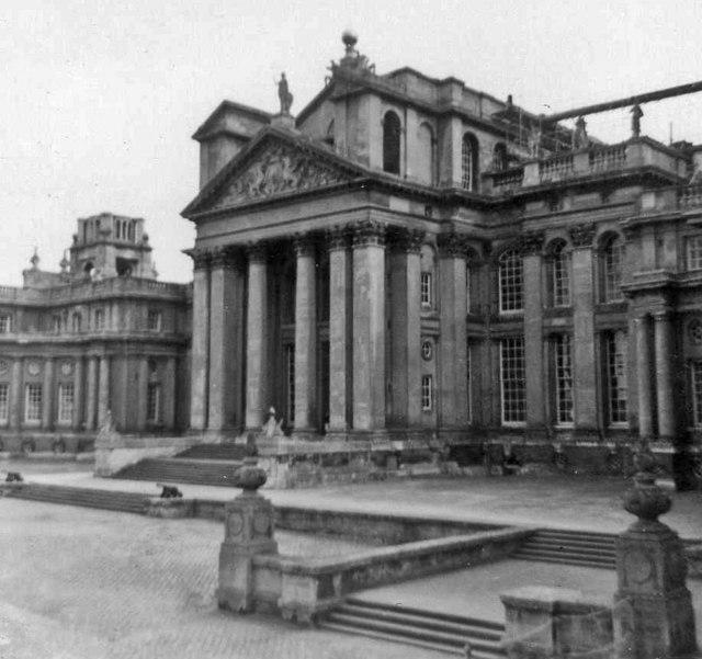 Entrance to Blenheim Palace, Oxfordshire, taken 1964